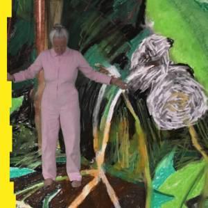 Celebrating Nature- Helen Wells - green screen figure in a drawn landscape.